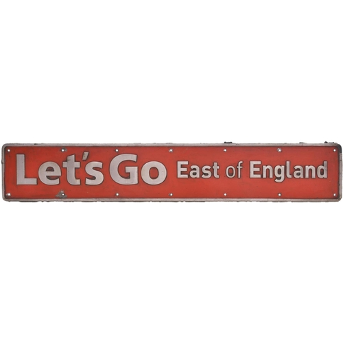 27 - A nameplate LETS GO EAST OF ENGLAND from Class 90 90011. Previously named CHARTERED INSTITUTE OF TRA...