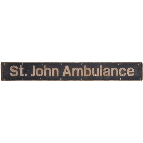 43 - A nameplate ST. JOHN AMBULANCE from Class 86 86408 later 86608. This plate was unveiled at Euston st...