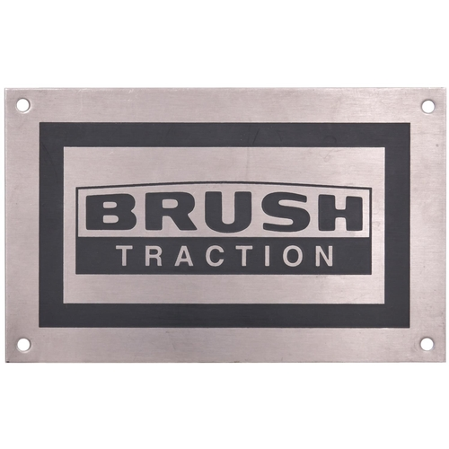 47 - A group of BRUSH TRACTION cab plates from various locos including Class 47 47348 and Class 92 92041 ...
