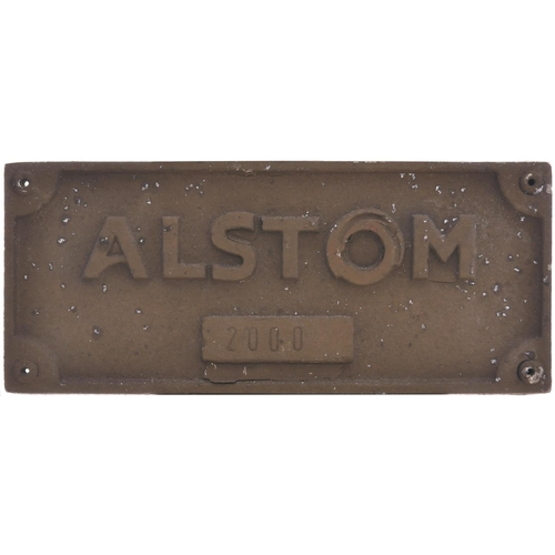 57 - A set of bogie plates EWS BP 67-057-200 ALSTOM from a Class 67 67029 ROYAL DIAMOND currently in stor...