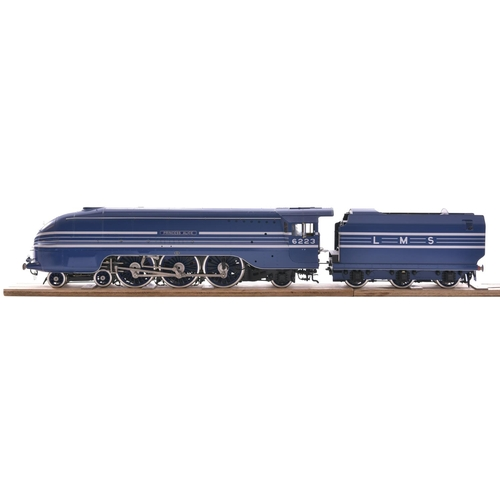 An O gauge model of Coronation class LMS Pacific PRINCESS ALICE, by Masterpiece Models, a superb example in its original box and packaging, unused, built for Michael Brooks of Dorset, the proprietor of the company. (Postage Band: N/A)