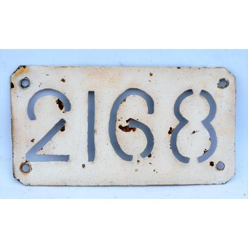 16 - South Eastern & Chatham Railway steel stencil style bridgeplate, 2168, 8 1/2