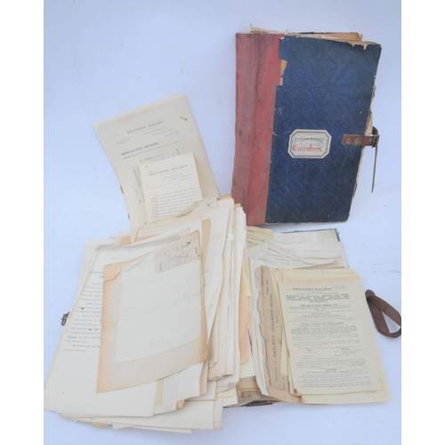 21 - Southern Railway books of instructions/notices & rubber stamps from WADEBRIDGE station (2 vols) + ot...