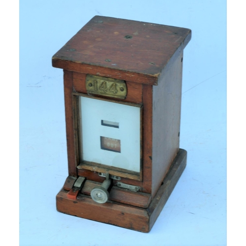 32 - Great Western Railway signal box wooden cased lamp repeater, plated 144. (Postage Band: C)