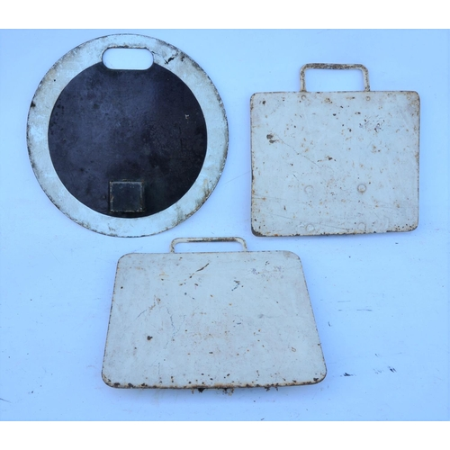 36 - Great Eastern Railway Suburban enamel disc headcodes, &  two square examples for special trains. (3)...