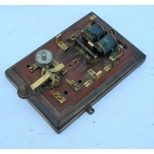 41 - Great Western Railway signal box block bell, incomplete - no clapper assembly, otherwise good. (Post...