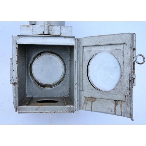 43 - British Railways (Western) locomotive headlamp, no front lens/surround, incomplete headlamp, brake v...