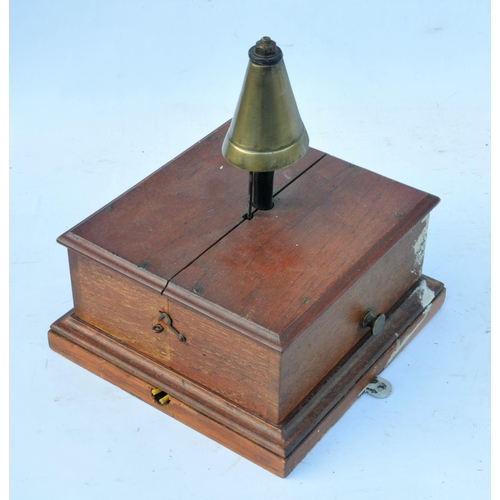 5 - Signal Box block bell with tall conical bell. (Postage Band: N/A)