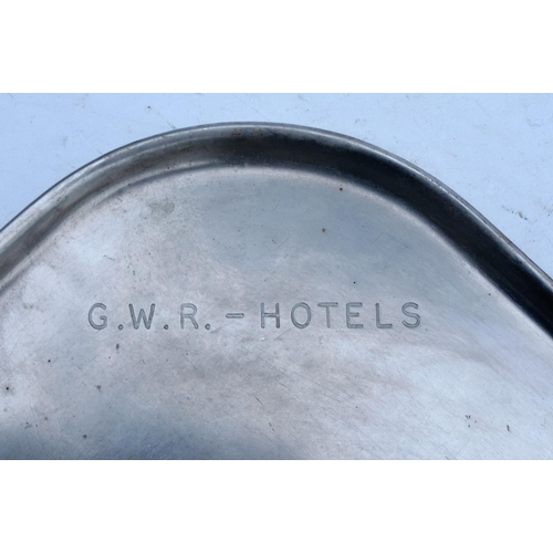 50 - Great Western Railway Hotels plated rectangular serving tray, name across corner, 15