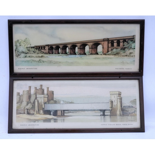 51 - Railway carriage prints, Wolverton Viaduct, Conway Bridge, Claude Buckle. (2) (Postage Band: N/A)