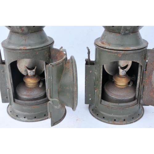 56 - War Department railway handlamps. (2) (Postage Band: N/A)