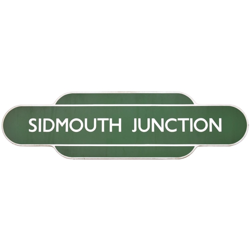 12 - A BR(S) totem sign, SIDMOUTH JUNCTION, (f/f), from the Honiton to Exeter Central section of the West...
