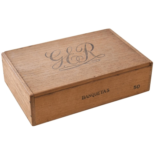 134 - A Great Eastern Railway cigar box, the top and inside of the lid both prominently marked with the co...