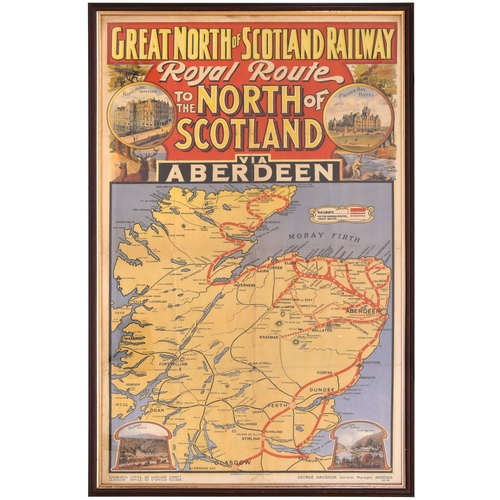 15 - A Great North of Scotland Railway double royal poster, THE ROYAL ROUTE TO THE NORTH OF SCOTLAND, VIA...