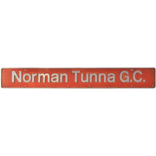 24 - A nameplate, NORMAN TUNNA G.C., from BR Class 47 D1598, later 47471. Delivered from Crewe Works to C...
