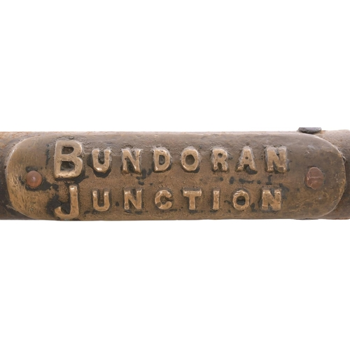 32 - A Webb and Thompson large train staff, BUNDORAN JUNCTION-IRVINESTOWN, the first section of the Great...