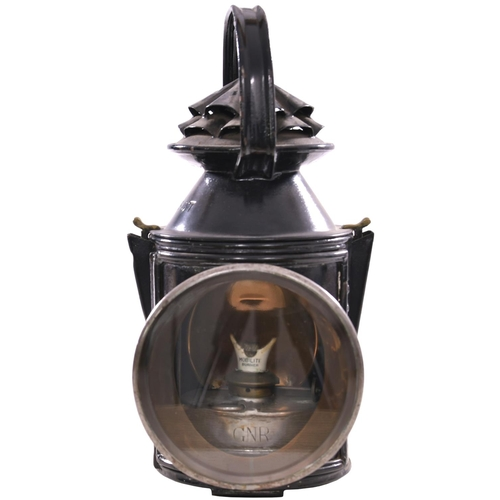6 - A GNR handlamp with brass plate, GREAT NORTHERN RAILWAY COMPANY, COLWICK LOCO JUNC, 2, the top and c...
