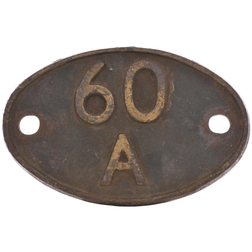 60 - A shedplate 60A Inverness (1950 to June 1962). This ex HR shed maintained over 50 locos in 1959. It ...