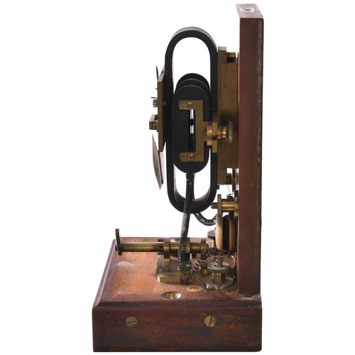 132 - A Great Western Railway signal repeater with flag indicating Signal On/Wrong/Signal Off, a brass pla...