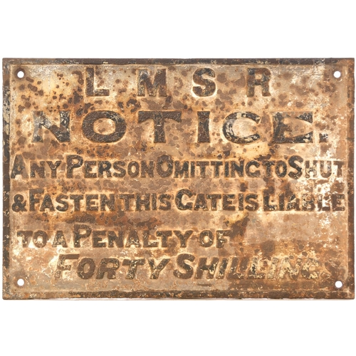 37 - An LMS (GW&LNW Joint Railway pattern) gate notice, cast iron, 21¼