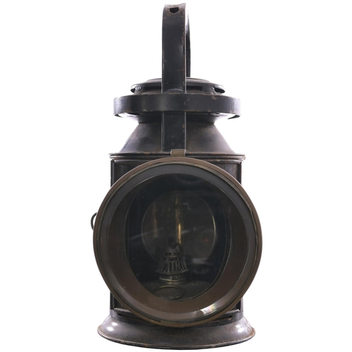 43 - A North British Railway Bulpitts three aspect handlamp, TYNEHEAD, from the Waverley route which clos...