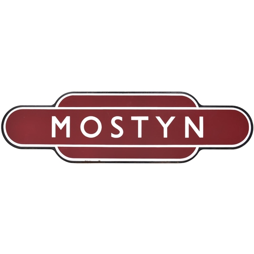 58 - A BR(M) totem sign, MOSTYN, (f/f) from the Flint to Prestatyn section of the Chester and Holyhead ma...