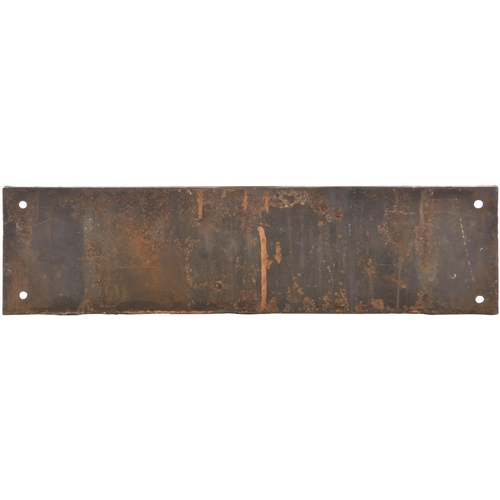 7 - A Great Western Railway doorplate, TELEGRAPH LINEMAN'S HUT, cast iron, 20½