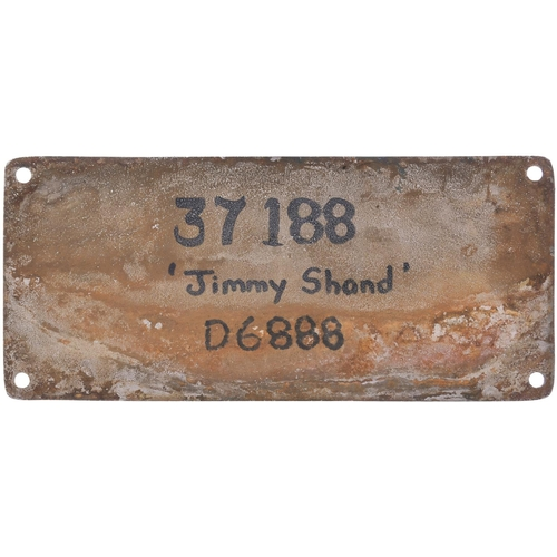 151 - A worksplate, ENGLISH ELECTRIC/ROBERT STEPHENSON & HAWTHORNS, 3366/8409, 1963, from a BR Class 37 No...