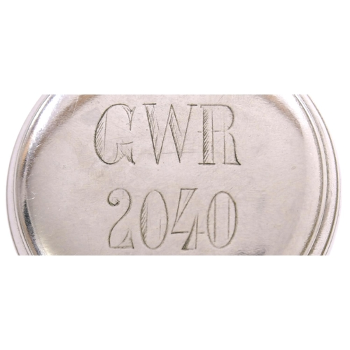 20 - A Great Western Railway pre-grouping pocket watch, the enamel face marked GWR, THE LANCASHIRE WATCH ...
