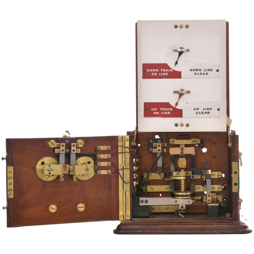21 - A Great Eastern Railway Tyers flap block instrument, a small strip HALESWORTH on the front. Overall ...