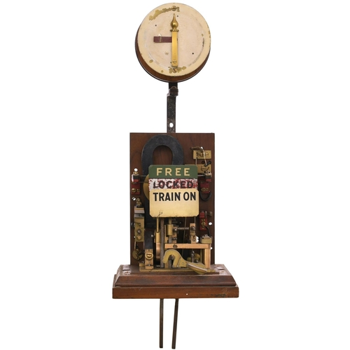29 - A London and South Western Railway Sykes lock and block instrument, the face marked TO ADVANCE UP TH...