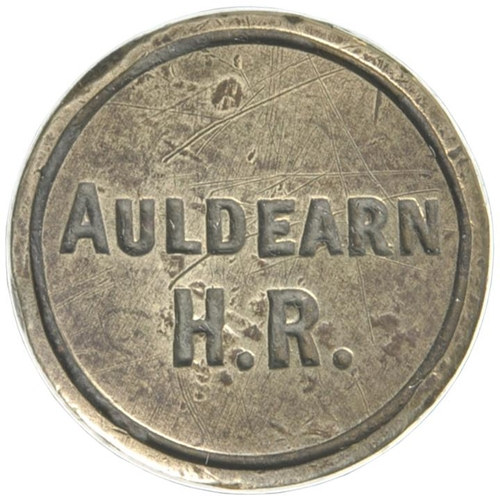 33 - A Highland Railway brass seal, H.R. AULDEARN, a station on the Inverness to Keith route which closed...