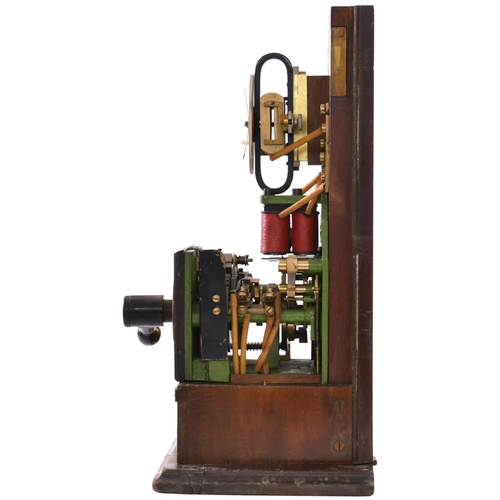 4 - A Midland Railway rotary block instrument, with enamel face, height 19