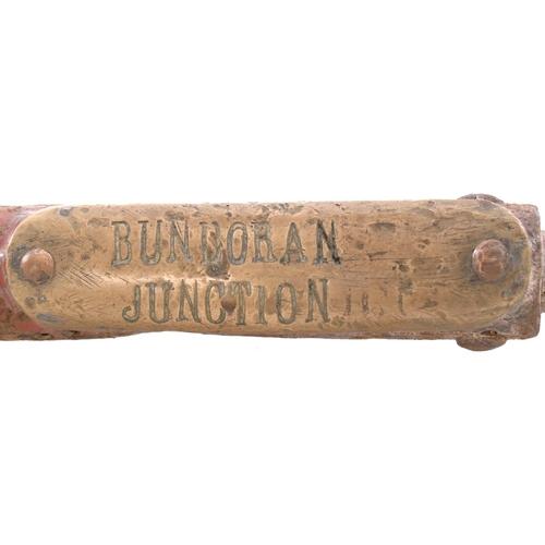 43 - A Webb and Thompson large train staff, BUNDORAN JUNCTION-ENNISKILLIN, from the Great Northern Railwa...