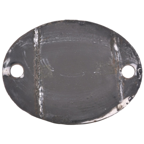 58 - A shedplate, 10, the London & North Western Railway code for Aston, sometimes known simply as Birmin...