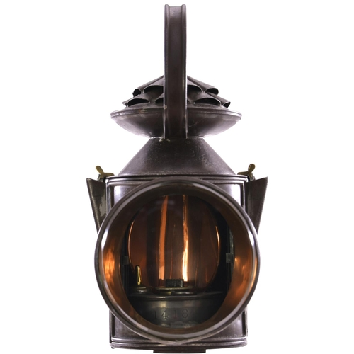 13 - An LNER three aspect handlamp with a brass plate LONDON & NORTH EASTERN RAILWAY, BARNSTONE, 1, a sta...