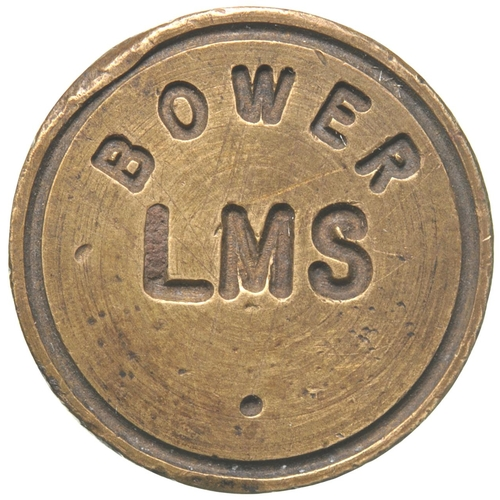 19 - A booking office seal, BOWER, LMS, a former Highland Railway station between Georgemas Junction and ...