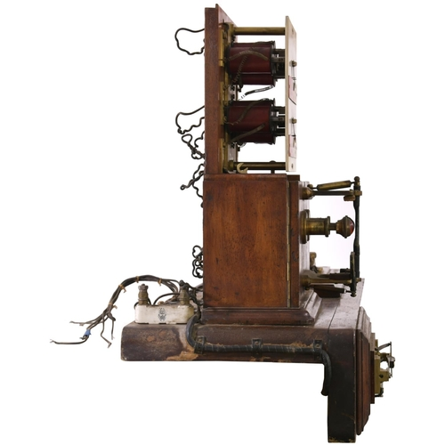 23 - A Great Eastern Railway signal box Tyers one wire two position flap block instrument with its associ...