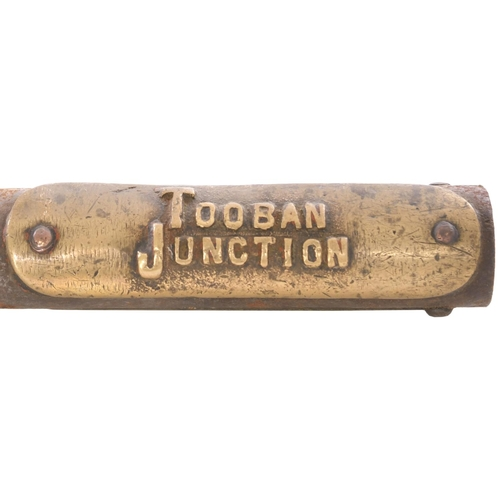 6 - A Webb and Thompson train staff, TOOBAN JUNCTION - NEWTOWN-CUNNINGHAM, from the Londonderry and Loug...