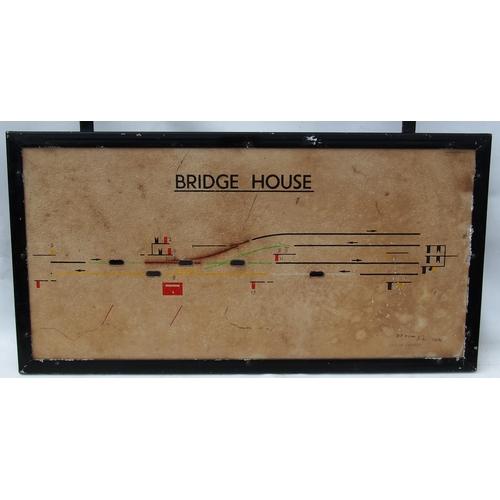 19 - British Railways signal box illuminated diagram