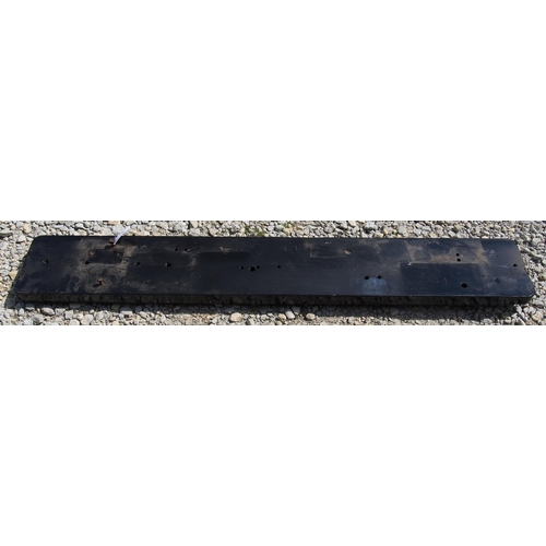 38 - Great Western Railway wooden block instrument shelf, complete with lower beading & wiring keeps, 69