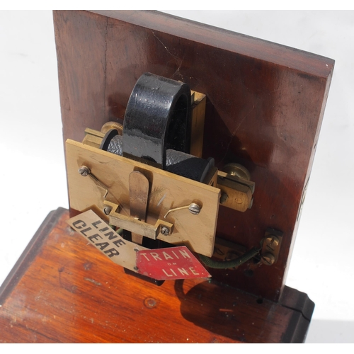 41 - Great Western Railway single disc non pegging Spagnoletti signal box block instrument, totally ex se...