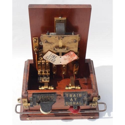 42 - Great Western Railway single disc pegging Spagnoletti signal box block instrument, indicator works f...