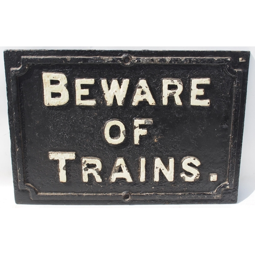 43 - Midland Railway C/I beware of trains notice (BTMR2), 22 1/2