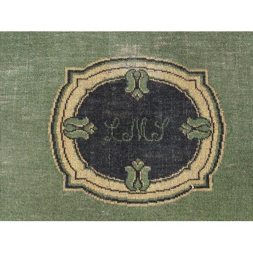 44 - London Midland & Scottish Railway floor rug, slight wear, 66