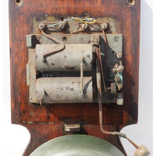 5 - Tyer & Co large wall mounted platform bell, old & impressive (& loud!), complete, 8 1/2