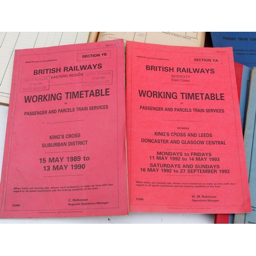51 - Misc quantity on new BR shirts, working timetables, leather cash bags, booklets etc. (Postage Band: ...