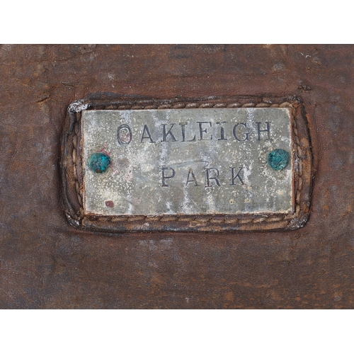 53 - British Railways leather cash bags brass plated