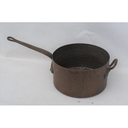 56 - British Transport Commission large heavy copper saucepan stamped