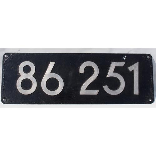 6 - German locomotive numberplate